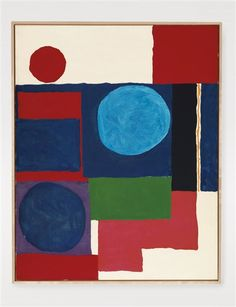 Blue in Blue with Red and White - Patrick Heron Textile Patterns, Print Patterns, Textiles, Patrick Heron, American Artists, Art Forms, Red And White, Abstract Art, Drawings