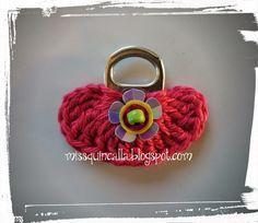 Miss Quincalla: TUTORIAL broche bolsito con anilla de refresco y ganchillo / Tiny bag crochet brooch with pop tab