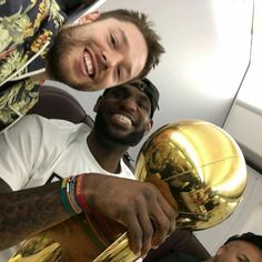 Dell, LeBron, and trophy.