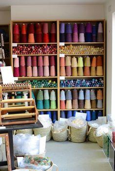 Heaven: The Handweavers Studio http://noidlehan.com/2013/03/04/a-visit-to-the-handweavers-studio/