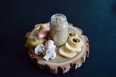 Recette de purée de panais aux champignons de Paris et échalote pour bébé (Dès 6 ou 8 mois)