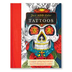 Just Add Color: Tattoos Colouring Book #adultcolouringbook #colouringbooksforadults