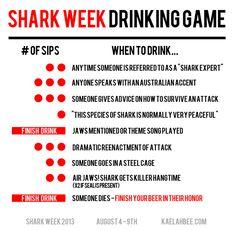 Shark Week Drinking Game - Kaelah Bee by kbeeblog, via Flickr