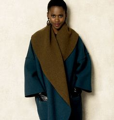 Vogue Patterns Sewing Pattern Misses' Oversized Shawl Collar Jackets Vogue Patterns, Coat Patterns, Clothing Patterns, Coat Pattern Sewing, Schneider, Easy, Vest Jacket, Duster Jacket, Mantel