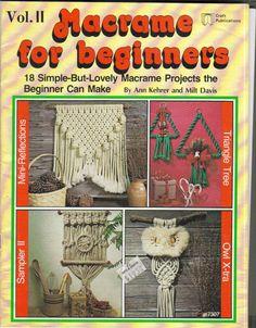INSPIRATION - Vintage Macrame for Beginners Pattern Booklet via Etsy