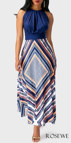 Navy blue maxi DRESS at Rosewe.com, free shipping worldwide, check it out.