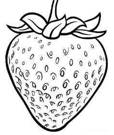 Strawberry Coloring Pages One Click Print Total 34