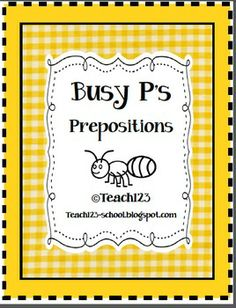 FREE Busy Prepositions activities and printable
