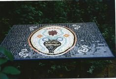 Mosaic table I made in London 15 years ago - unfortunately did not bring it back to Auckland