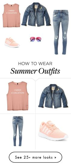"""Just long walks outfit"" by lu018-1 on Polyvore featuring Hollister Co., rag & bone and adidas"