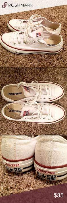 642413856206da Women Sz 8 CONVERSE CHUCK TAYLOR ALL STAR - white CONVERSE CHUCK TAYLOR ALL  STAR LOW TOP size 8 women 6 men. Used but still white. Converse Shoes  Sneakers