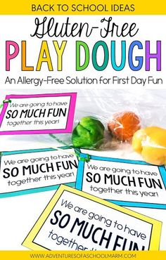 I love to use play dough for my first activity on the first day of school! But did you know that some students with a gluten-allergy can break out in hives from merely touching play dough? For this reason, I started to make gluten-free play dough! This re