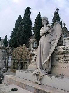 This cemetery features modernist statues as strange as its name.