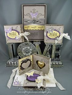 Yum - wrapping chocolate!lol Beautiful cards and boxes