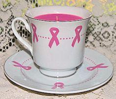 Rosas e Xícaras Cancro da mama e presentes Benefício Consciência da Violência Doméstica
