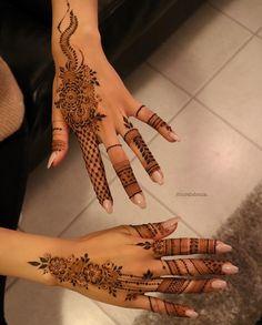 Likes, 38 Comments - Arabian Henna (حنا) ( on Instag., Likes, 38 Comments - Arabian Henna (حنا) ( on Instag. Finger Henna Designs, Arabic Henna Designs, Modern Mehndi Designs, Mehndi Design Photos, Wedding Mehndi Designs, Mehndi Designs For Girls, Henna Designs Easy, Wedding Henna, Beautiful Henna Designs
