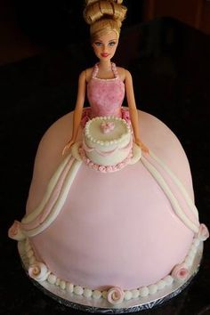 Barbie Doll Cake , originally uploaded by bakers-cakes . I created this simple and elegant Barbie Cake for a customer's five year old daug. Barbie Birthday Cake, Barbie Party, Birthday Cakes, 36th Birthday, Princess Birthday, Princess Party, Pretty Cakes, Beautiful Cakes, Torte Nutella