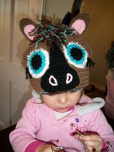 Crochet Horse Beanie Hat by HandCraftingHunnies on Etsy, $30.00