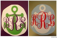 Monogrammed Anchor Decal