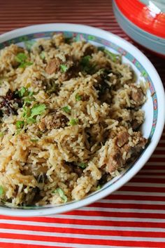 Mutton Pulao..Mouthwatering recipe that has fresh masalas and lots of mint in it