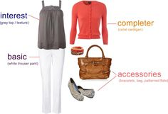 jodie noted: fashion formula / grey + coral