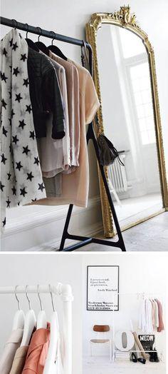 11 maneiras de organizar suas roupas sem armário