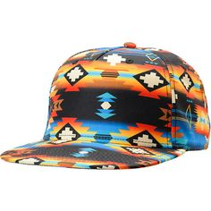 """The Neff and Mac Miller collaboration Machahat tribal print snapback hat from Neff Headwear takes it's style straight from the stage. This Zumiez exclusive features a an all-over Native design, Mac Miller """"Thumbs Up"""" logo at side, and a N377 logo tag at the snapback size piece. Designed with Mac Miller the Neff Machahat snapback"""