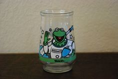 Vintage Welch's Jelly Jar  Kermit Muppet's in Space by calalamod