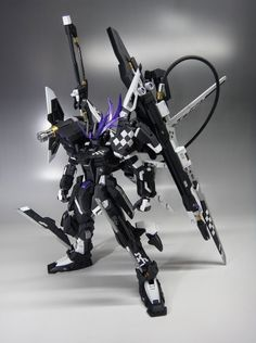 "MG 1/100 ""Insane Black Rock"" Strike Gundam - Custom Build - Gundam Kits Collection News and Reviews"
