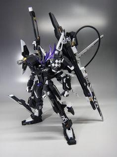 "MG 1/100 ""Insane Black Rock"" Strike Gundam - Custom Build - Gundam Kits Collection News and Reviews"