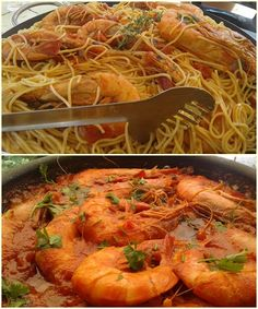 Greek Recipes, Fish Recipes, Recipies, Japchae, Shrimp, Salads, Spaghetti, Food And Drink, Health Fitness