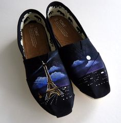 Paris Themed TOMS by TheLibertyLama on Etsy