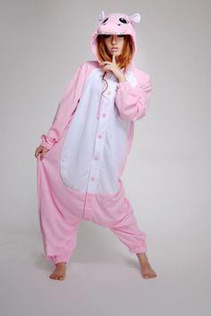 Pink Hippo Onesies Hoodie Pajamas Animal Kigurumi | PajamasBuy