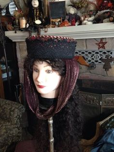 Renaissance Shakespeare Tudor Toque Hat By King Flum Costume Hand Made Medieval