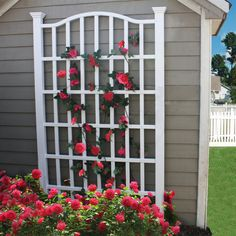 THIS ITEM WILL ARRIVE IN 8-15 DAYS AND ONLY SHIPS TO THE CONTINUOUS UNITED STATES. The 7.5 Ft Garden Trellis in Whit Vinyl with Arch Top is an elegant solution to any yard space question. Made of high