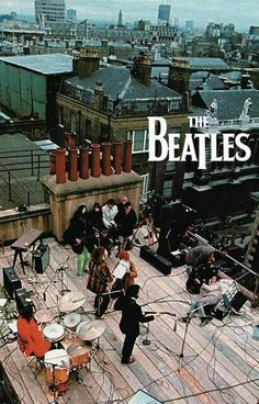 The Beatles on roof top of apple