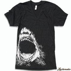 Unisex V-Neck SHARK T Shirt (+ Color Options) xs s m l xl