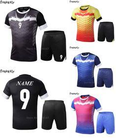 [Visit to Buy] College soccer jerseys men custom football jerseys soccer uniforms youth adult football set suit maillot de foot 2016 2017 #Advertisement