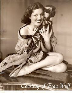 Olive Borden with her Lenci doll