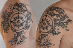 Sleeve Tree Tattoo Designs for Men