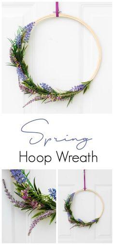 An easy Spring hoop