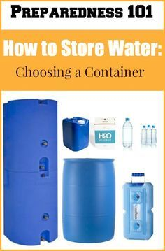 Do you know how to store water?  Well, there are lots of smart ways to store water for emergencies.  Learn about the pros and cons of various containers so you can choose the best one(s) for you!