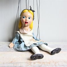Vintage  Alice in Wonderland Marionette / Puppet, via Etsy shop ethanollie