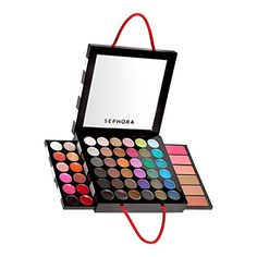 Sephora Collection Medium Bag Palette 287s. This unique compact palette offers a versatile collection of colours. These colours deliver high payoff to ensure that a long-lasting look. Desgined with adaptability in mind, the palette can be used for every occasion without having to repeat your look. Sleek and convenient packaging. Comes in a compact shaped like the Sephora shopping bag. Contains lip gloss (12), eyeshadow (36), blushers (4), bronzers (2), mirror (1).