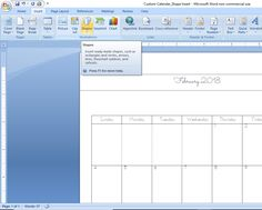 How to Create a Custom Calendar in Word - Calyx & Corolla Custom Calendar, Diy Calendar, Page Table, Create A Calendar, Page Layout, Time Management, No Time For Me, Chart, Organization