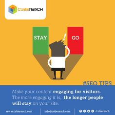 Create Engaging Content. http://www.cubereach.com  #contentmarketing #onpageseo #contentwriting #copywriting #Blogging