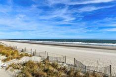 Winter view of the beach in Garden City Beach, South Carolina.