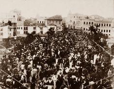 Inauguração do Viaduto do Chá. SEria o casarão cortado ao fundo, o do Barão de Itapetininga?