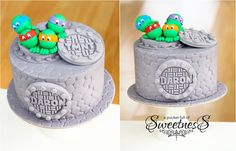 Hero in a half shell. Ninja Cake, Tmnt Cake, Fancy Cakes, Cute Cakes, Specialty Cakes, Cake Boss, Cakes For Boys, Piece Of Cakes, Love Cake