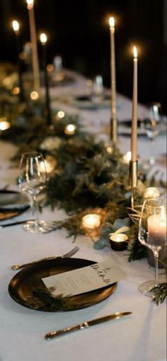 Classy Christmas, Candles, Table Decorations, Home Decor, Decoration Home, Room Decor, Candy, Candle Sticks, Home Interior Design
